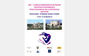 GAF : Bilan de la  Finale régionale FED A individuelles - Beaucaire - 14 avril 2019